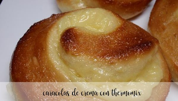 Caracolas de crema con thermomix