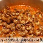 caracoles en salsa de pimientos con thermomix