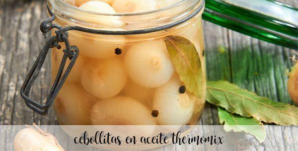Cebollitas en aceite con Thermomix