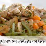 Champiñones con verduras con thermomix