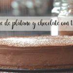 Cheesecake de plátano y chocolate con thermomix
