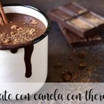 Chocolate caliente a la canela con thermomix