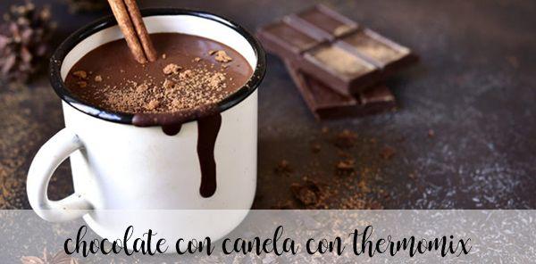 Chocolate caliente a la canela con thermomix