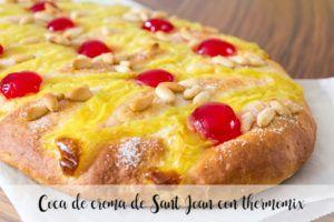 Coca de crema de Sant Joan con thermomix