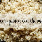 Cocer Quinoa con thermomix