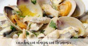 Cocochas con almejas con Thermomix