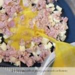 Como hacer una tortilla de jamon y queso sin aceite con thermomix