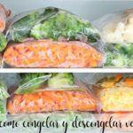 Truco como congelar y descongelar verduras