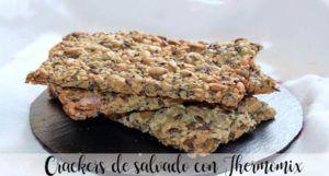Crackers de salvado con Thermomix