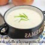 Crema de cebolla a la cerveza con Thermomix