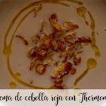 Crema de cebolla roja con Thermomix