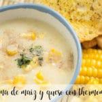 Crema de maíz y queso con Thermomix