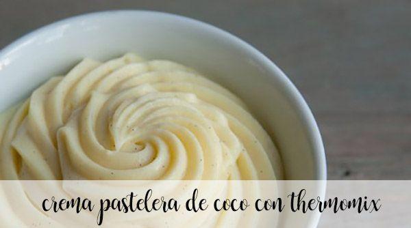 Crema pastelera sabor a coco con Thermomix