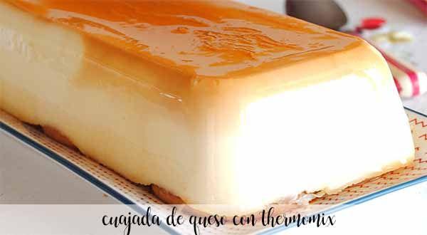 Cuajada de queso con Thermomix