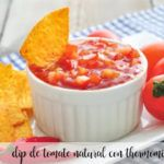 Dip de tomate natural con thermomix