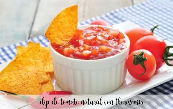Dip de tomate natural con thermomix