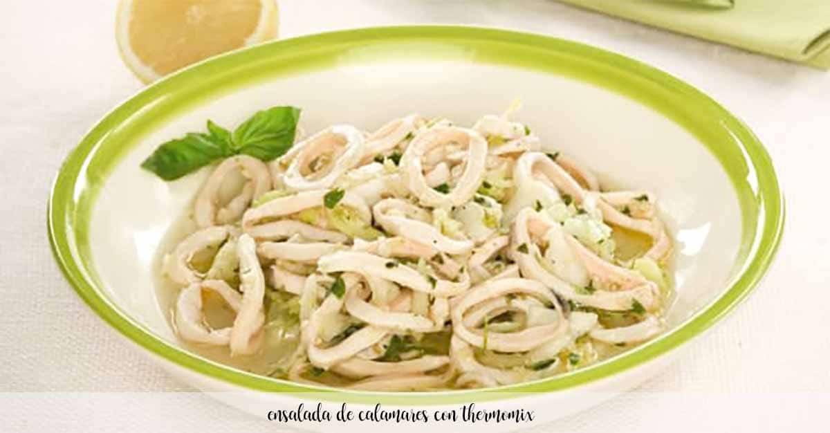Ensalada de calamares con Thermomix