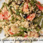 Ensalada de quinoa, judías verdes y atún con Thermomix