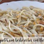 Espaguetis con berberechos con Thermomix