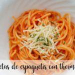 25 recetas de espaguetis con thermomix
