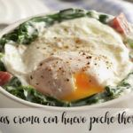 Espinacas a la crema con huevo poché con Thermomix