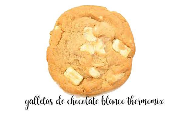 Galletas de chocolate blanco con Thermomix