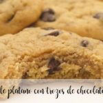 Galletas de plátano con trocitos de chocolate con Thermomix