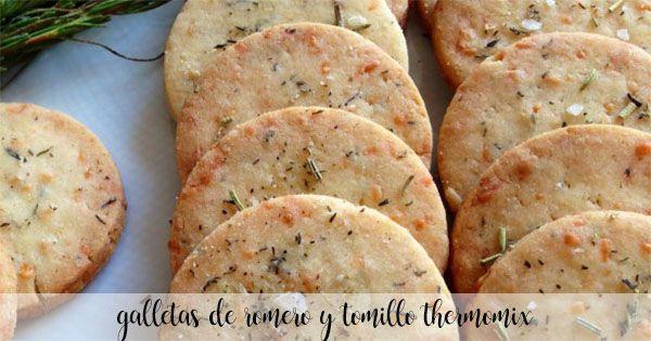 Galletas de romero y tomillo con thermomix