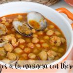 Garbanzos a la marinera con Thermomix