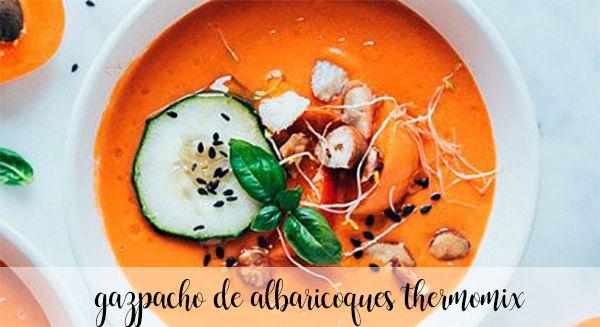 Gazpacho de albaricoques con Thermomix