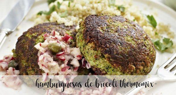 Hamburguesa de brócoli con vinagreta con Thermomix