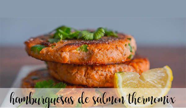 Hamburguesas de salmón con thermomix