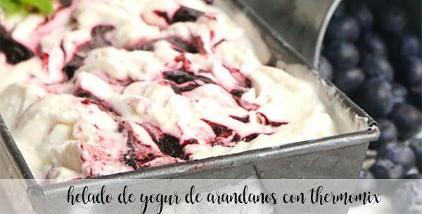 Helado de yogur de arandanos con thermomix