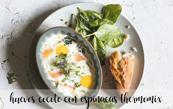 Huevos en cocote con espinacas con Thermomix