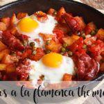Huevos a la flamenca con thermomix