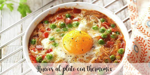 Huevos al plato con thermomix