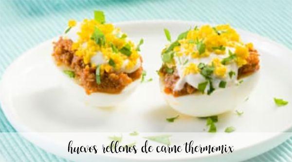 Huevos rellenos de carne con thermomix
