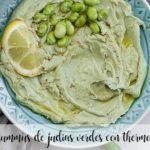 Hummus de judías verdes con thermomix