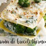 Lasaña de brócoli con Thermomix