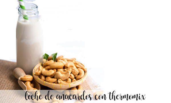 leche de anacardos con thermomix