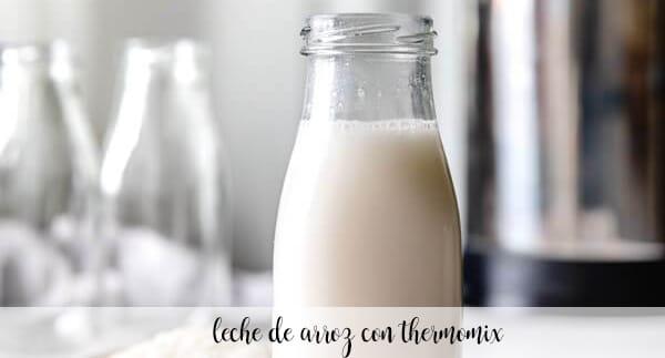 leche de arroz con thermomix