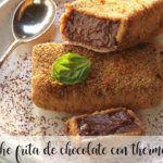 Leche frita de chocolate con thermomix