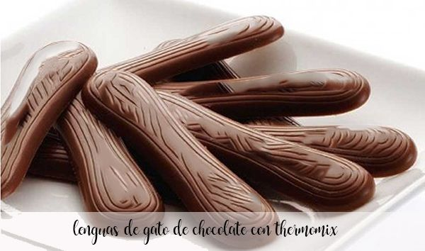 Lenguas de gato de chocolate con Thermomix