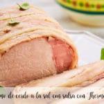 Lomo de cerdo a la sal con salsa con Thermomix