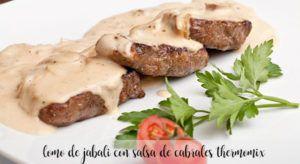 Lomo de jabalí al queso de Cabrales con Thermomix