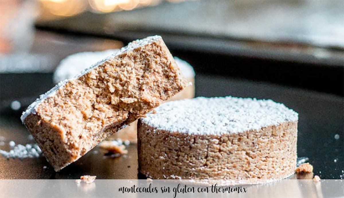 Mantecados sin gluten con thermomix