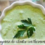 Mayonesa de Cilantro con thermomix