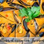 Mejillones al curry con Thermomix