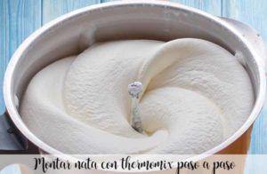 Montar nata con thermomix paso a paso