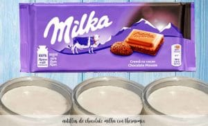 Natillas de chocolate Milka con thermomix